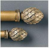 Gilded Artichoke Finials & Rod Gold Leaf
