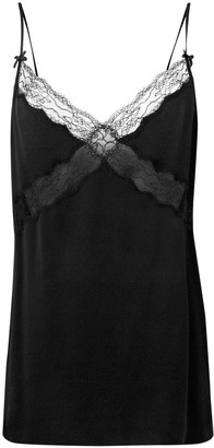 Michael Kors Collection Lace Trimmed Slip Top