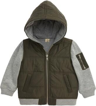 Tucker + Tate Mountain Crest Nylon & Fleece Jacket