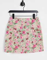 Thumbnail for your product : And other stories & floral print mini skirt in multi