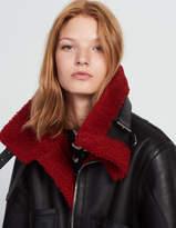 Sheepskin jacket with coloured details