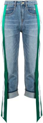 Hellessy side panel cropped jeans