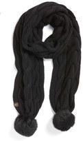 UGG Knit Genuine Shearling Pompom Scarf