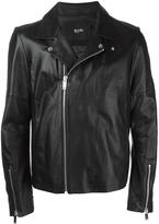 Blood Brother zip up biker jacket - men - Cotton/Lamb Skin/Cupro - XS