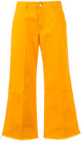 The Seafarer - cropped wide leg flares - women - Cotton - 25