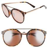 BP Women's 55Mm Mirrored Sunglasses - Black/ Gold