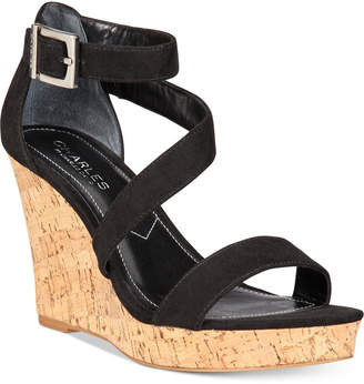 Charles by Charles David Leanna Platform Wedge Sandals Women Shoes