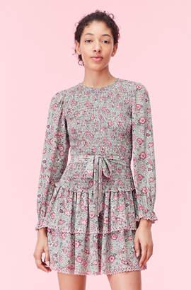 Rebecca Taylor La Vie Camila Floral Crepe Dress
