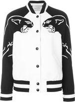 Valentino panther bomber jacket - women - Sheep Skin/Shearling/Cashmere/Virgin Wool - 42