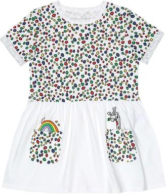 Stella McCartney Giraffe Dots cotton-jersey dress