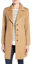 Fleurette Notch Collar Lightweight Cashmere Coat