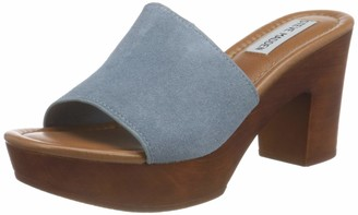 Steve Madden Women's Fran Dusty Blue Suede Heeled Sandal 4.5 UK