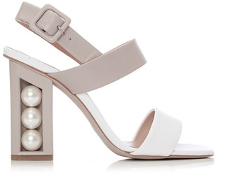 Moda In Pelle Shore White-Nude Leather