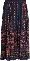Vanessa Bruno Frederique floral-print pleated crepe skirt