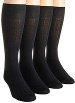 Calvin Klein Mens 4-pack Solid Ribbed Dress Socks