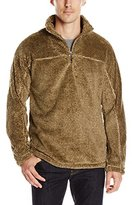 True Grit Men's Luxe Fleece Stripe 1/4 Zip Pullover