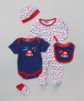Sweet & Soft Red & Blue Cars Layette Set