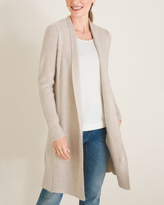 Chico's Cashmere-Blend Open-Front Cardigan
