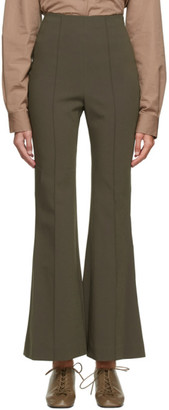 Low Classic Khaki Bootcut Trousers