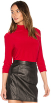Norma Kamali Long Sleeve Turtleneck in Red