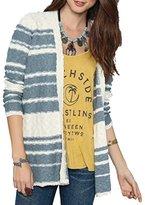O'Neill Junior's Zadie Striped Boyfriend Cardigan Chunky Sweater