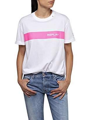 Replay Women's W3232c.000.20994 T-Shirt,Small