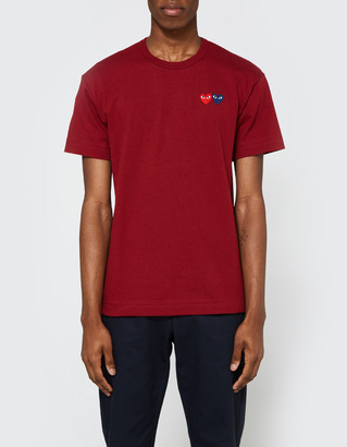 Comme des Garcons Play T-Shirt in Burgundy