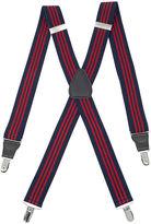 Asstd National Brand Status Striped Drop-Clip Belt Suspenders