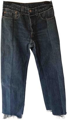 Vetements Blue Cotton Jeans for Women