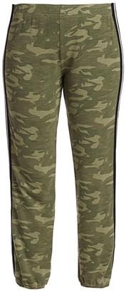 Monrow Camouflage Elastic Racing Stripe Sweatpants