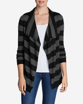 Eddie Bauer Women's Flightplan Cardigan Sweater - Stripe