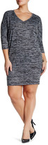 Bobeau 3/4 Sleeve V-Neck Dress (Plus)