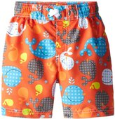 iXtreme Little Boys Swimwear Whale Print Rashguard Swim Trunk