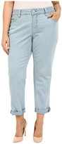 Jag Jeans Plus Size Alex Relaxed Boyfriend Jeans in Supra Colored Denim Mineral Pool
