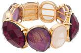 Dana Buchman Purple Geometric Stretch Bracelet