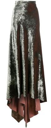 Ann Demeulemeester Long Velvet Skirt
