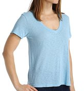 Splendid Women's Slub Short Sleeve V-neck