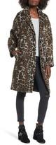 Vigoss Women's Oversize Leopard Print Topcoat