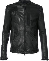 Giorgio Brato patched jacket - men - Leather - 48