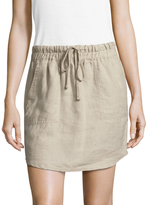 James Perse Curve Hem Drawstring Skirt