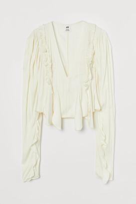 H&M Flounced Blouse - White