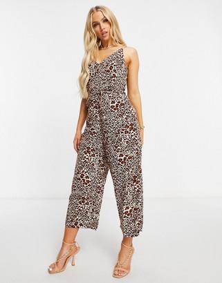 AX Paris cami jumpsuit in leopard