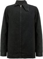 Rick Owens zipped denim jacket