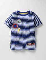 Boden Stripy Patch T-shirt
