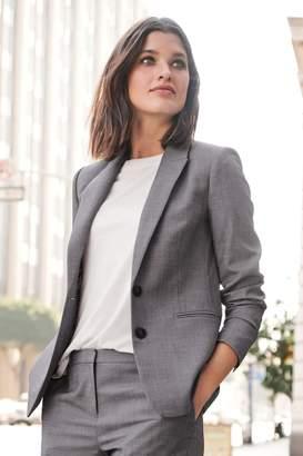 Next Womens Grey Sharkskin Texture Tailored Jacket - Grey
