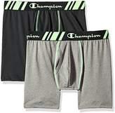 Champion Men's Tech Performance Boxer Brief Black/Dynamic