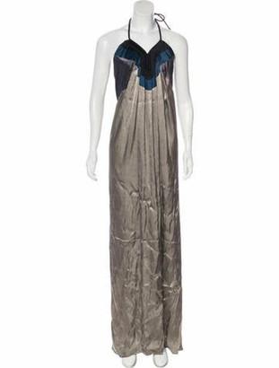 Lanvin Silk-Blend Gown Grey