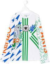 Kenzo geometric and logo print T-shirt