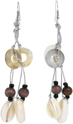 Aeravida Beach Vibe Cowrie Sea Shells Dangle Earrings