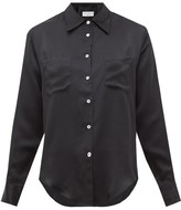 Officine Generale Carine Silk-satin Shirt - Womens - Black